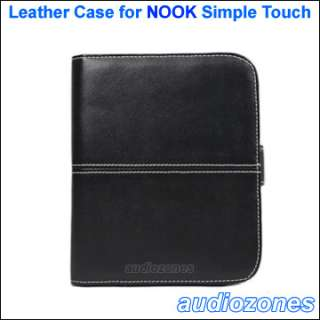 Leather Case Cover Bag for Barnes & Noble B&N NOOK The Simple Touch