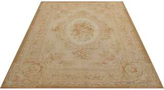 STYLE COUNTRY FRENCH ROSE AUBUSSON AREA RUG ~ ANTIQUE PASTEL COLORS