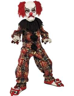 Child Clown Scary Halloween Costume  Jokers Masquerade