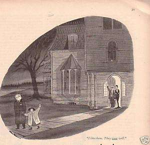 Original 1951 Addams Family Charles Addams Cartoon