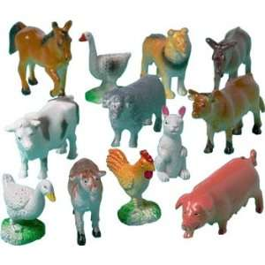 Farm Animal Toys   Pack of 12  Toys & Games