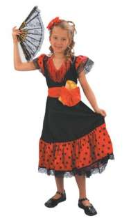 Spanish Flamenco Fancy Dress Costume
