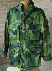 Swedish M90 Windproof Field Parka XXLARGE +FREE D156 Black Balaclav