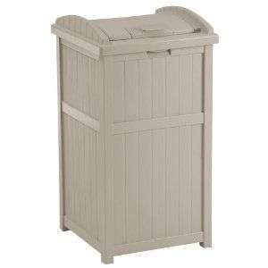 Suncast Outdoor Hideaway Trash Can Patio Deck