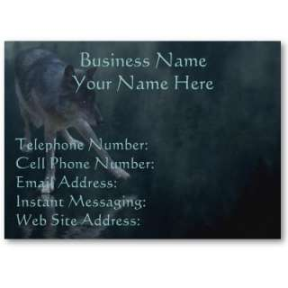 WOLF, EAGLE & TOTEM POLE Profile & Business Cards by WILDERNESS_SHOP