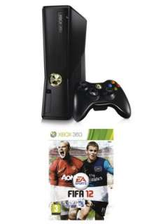 XBOX 360 4Gb Console with FIFA 12  Littlewoods