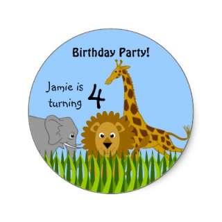 Safari Friends Animal Stickers by SocialiteDesigns