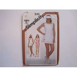Simplicity Pattern 5142 Misses Tennis Dress, Bloomers and