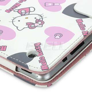 WHITE HELLO KITTY LEATHER CASE & STAND FOR APPLE iPAD 2