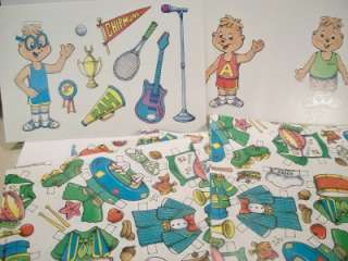 Wrap Wrapping Paper Doll Alvin & Chipmunks Lot   NOS   Unused