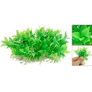 Mini Fish Tank Aquarium Plastic Plants Green with Flower