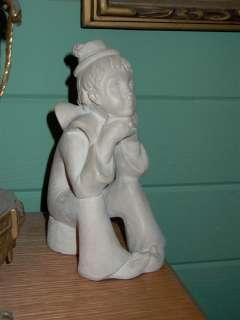 Austin Prod Inc 1980 Boy Clown Sculpture Statue