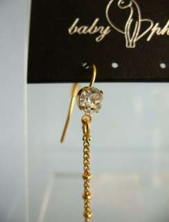 Baby Phat Gold Crystal Chandelier Dangle Earrings 623