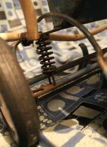 Vintage Taylor Tot Baby Stroller/ Walker Wooden Handle Good Condition