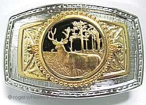 Deer Buck Antler Hunting Hunter Western Belt Buckle Wildlife Big Game
