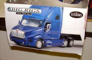 32 TESTORS BIG RIGS KENWORTH T2000 WITH TRAILER METAL MODEL KIT NIB
