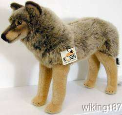 KOSEN Made in GERMANY NEW STANDING GRAY WOLF PLUSH TOY