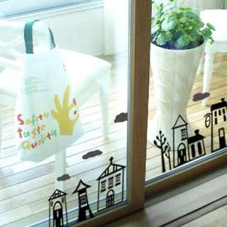 Town Adhesive WALL STICKER Removable Graphic Decal
