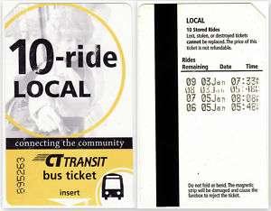 Connecticut (CT Transit) Bus Ticket Pass, XF.