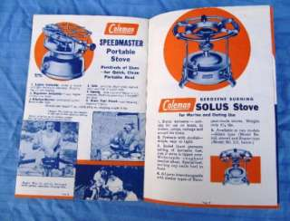 1940 1950 COLEMAN Lantern, Camp Stoves, Stands, Heaters Catalog