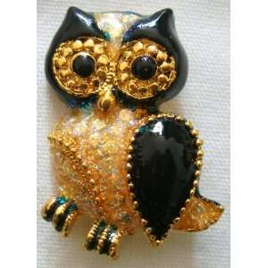 Vintage Inspired Gold Tone Owl Bird Animal Pin Brooch