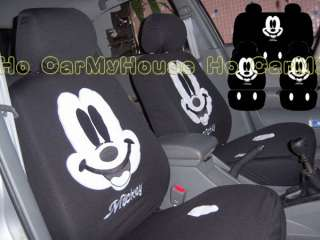 New Mickey Mouse Smile Car Seat Covers Black