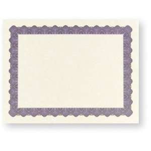 Metallic Blue Certificate Border Paper (100 Sheets): Office Products