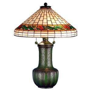 Meyda Tiffany 25 H Bungalow Pine Cone Table Lamp Decor