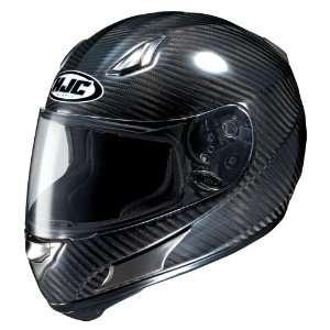 HJC AC 12 Carbon Fiber Full Face Motorcycle Helmet Black