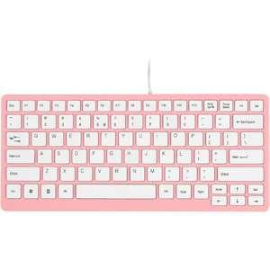 Series USB Mini Keyboard, Light Pink with White Keys Computers