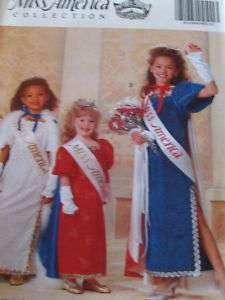 COSTUME PATTERN CHILD B5015 MISS AMERICA