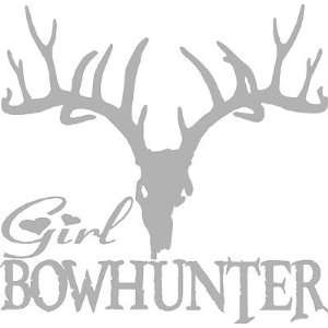 Girl Bow Hunter  Hunting Decal, Pick size   Made in USA   Pro Grade