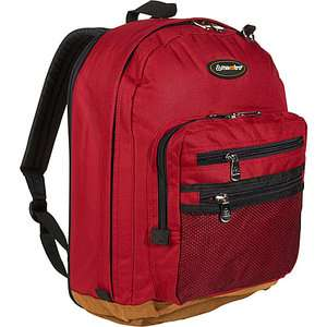 Maestro Luggage Expandable Leather Bottom Backpack Bags