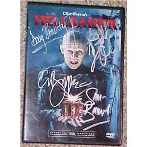 Clive Barker Hellraiser Pinhead DVD Signed X4 COA   Sports Memorabilia