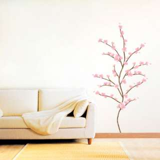 Beautiful Flowering Tree Wall Art Accent Decal Vinyl Stickers