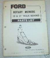 Ford Tractor Rotary Mower Walk Behind Parts Catalog Man