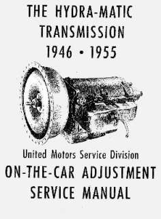 51 52 53 54 55 CADILLAC AUTO TRANSMISSION ADJUSTMENT