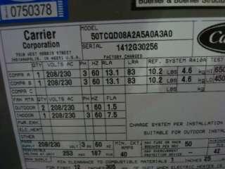 Carrier 50TCQ Package Heat Pump 7.5 Ton 208/230 Volt R 410A