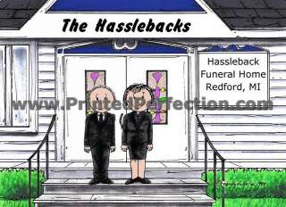 FUNERAL DIRECTOR   Custom Cartoon Gift, Many Options for