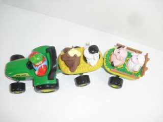 Chunky Animal Sounds Tractor Wagon Hay Ride Kids Childrens Toy