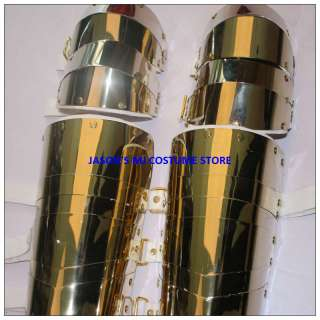 MICHAEL JACKSON GOLD STAINLESS STEEL ALLOY KNEEPADS