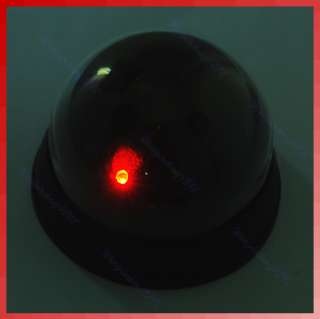abs ps simulated security dome camera with led light flashing just