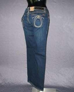 NWT Womens LA IDOL Jeans DARK BLUE WITH KHAKI WHIP STITCHING! 534LP