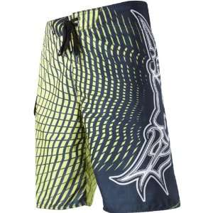 Mens Boardshort Surfing Pants   Day Glo Yellow / Size 31: Automotive