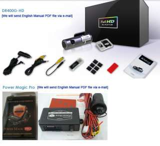 16GB Full HD Car Black Box GPS Drive Recorder+Power Magic Pro