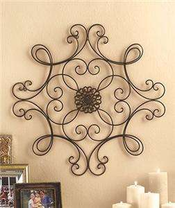 EYE CATCHING SCROLLED METAL WALL ART MEDALLION   SQUARE OR OBLONG