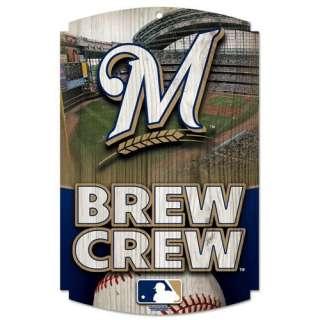 Wincraf, Inc. MLB Wood Sign   Milwaukee Brewers Crew Spors Fan Shop