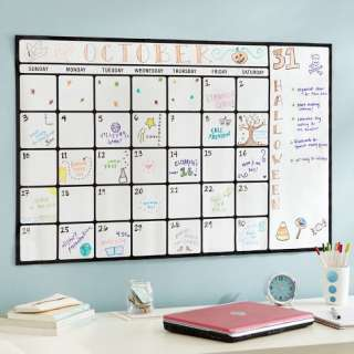Pottery Barn Teen Dry Erase Calendar Wall Decal Peel And Stick Sticker