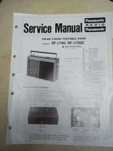 Panasonic Service Manual~RF 1700/C 8 Band SW Portable Radio~Original