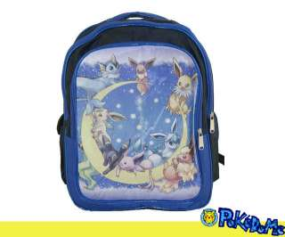 LEAFEON GLACEON UMBREON Backpack School Book Bag blue SE05